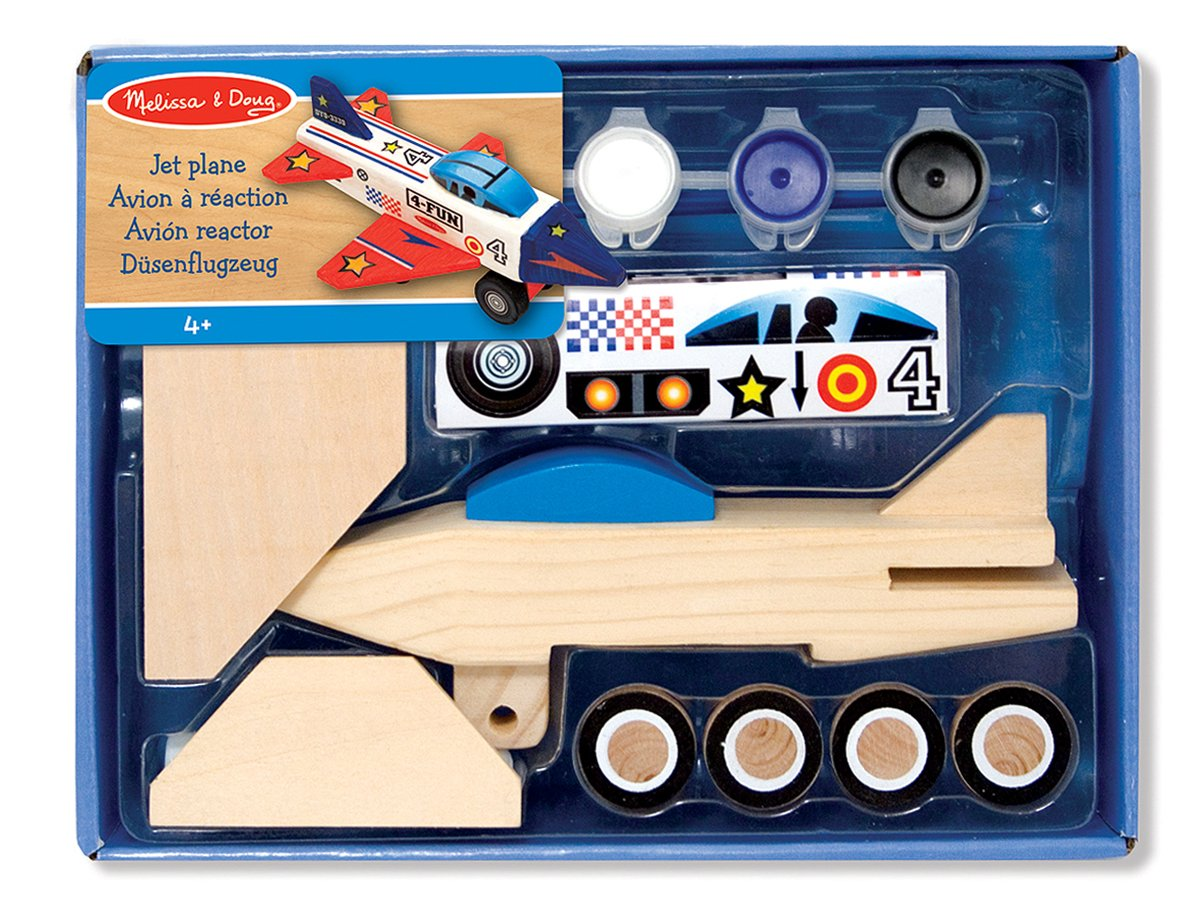 Melissa & Doug Decorate-Your-Own Wooden Jet Plane Craft Kit Melissa&Doug 13339 Arts & Crafts Craft Kits
