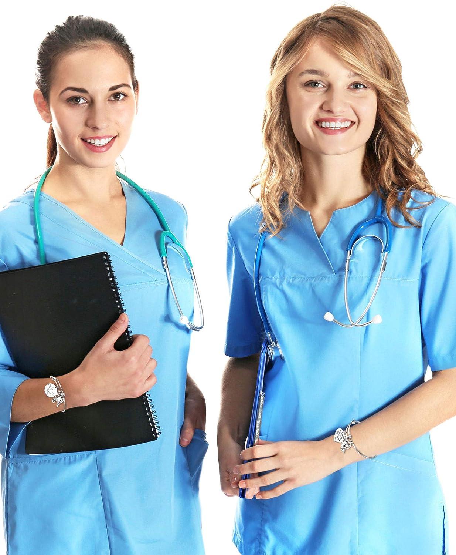 Chuangdi 2 Pack Pulsera de Enfermera Regalo de Apreciación, Brazalete de Enfermera para Mujeres Regalos de Idea de Enfermera para Ceremonia de Aniversario Día de Graduación de Enfermeras (Estilo B): Amazon.es: Joyería