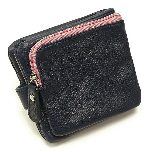 2ac567d68a0d Amazon | [イーモノ] e-mono 本革 二つ折り財布 ツートンカラー 袋縫い ...