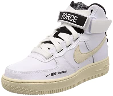 size 40 7521a 22fa0 Nike Women's WMNS Air Force 1 High Utility, White/Light Cream-Black-White