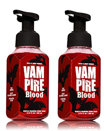 bath and body works halloween vampire blood gentle foaming hand soap pair of 2 foam