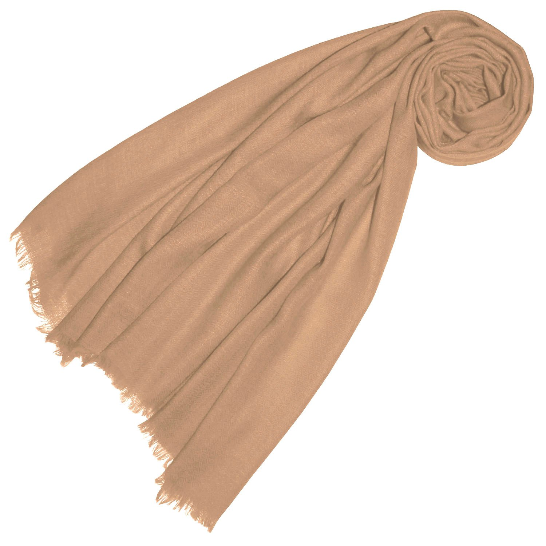 Lorenzo Cana Luxus Pashmina Damen Schal Schaltuch 100% Kaschmir leicht kuschelweich Kaschmirschal Kaschmirtuch Kaschmirpashmina einfarbig 78302
