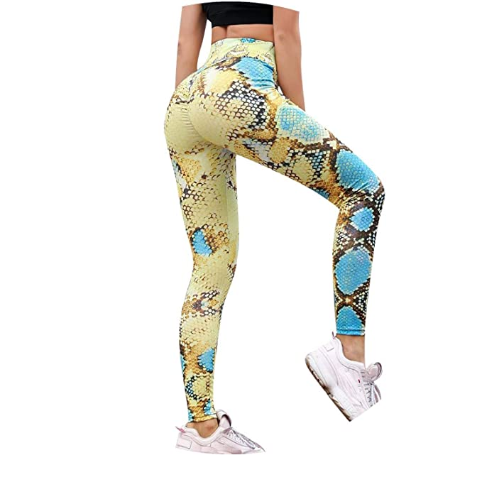 Amazon.com: 2019 Serpentine Women Yoga Pants Mesh Leather ...