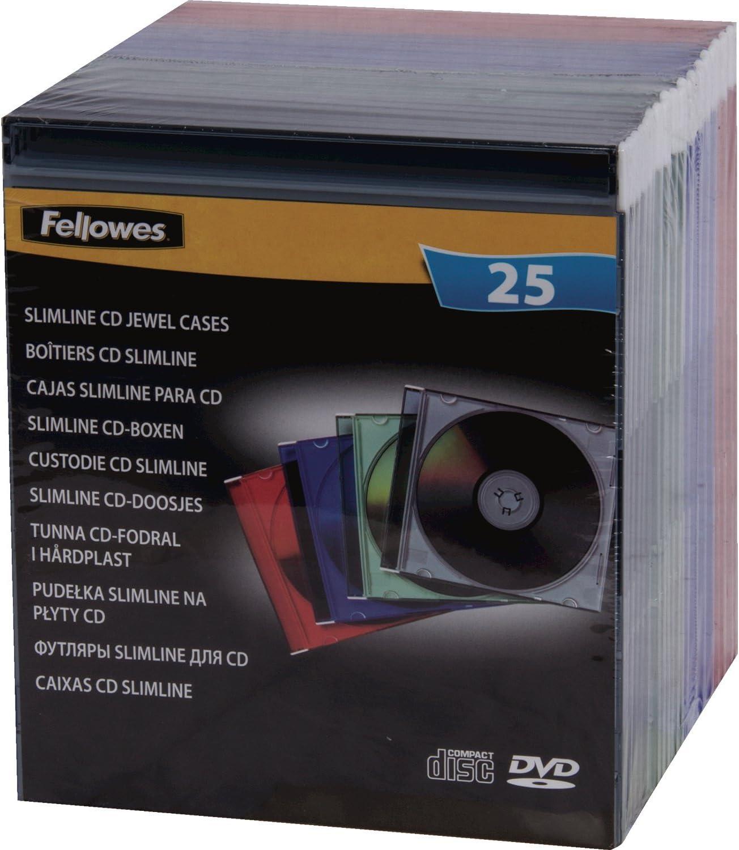 Fellowes 98317 - Pack de 25 Cajas Estuche para CDs/DVDs Slim ...