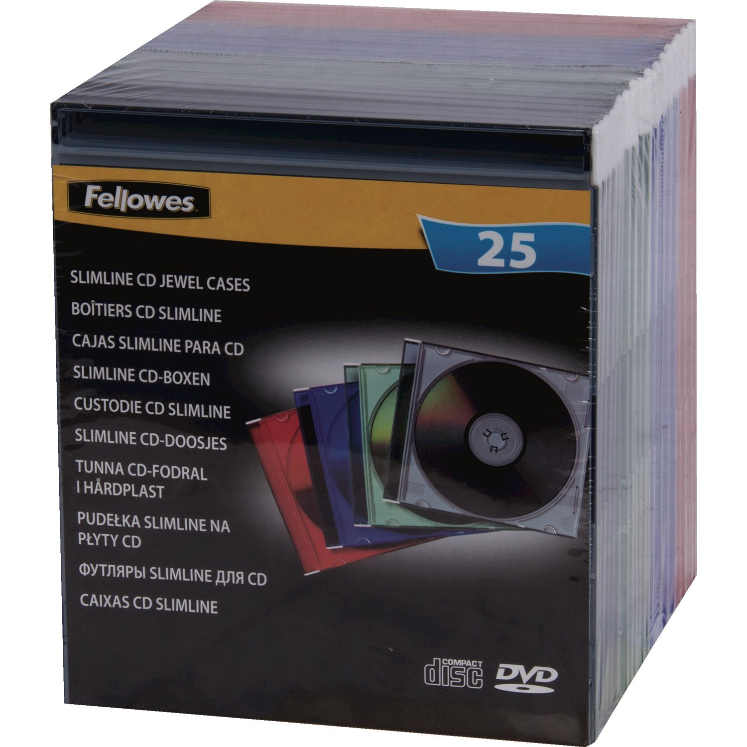 Amazon.com: 25-pack Slim Jewel Cases- Colorsholds One CD/DVD And Booklet (Discontinued by Manufacturer): Home Audio & Theater