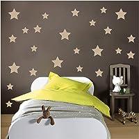 Yıldızlar 190x127 cm Duvar Sticker Duvar Dekorasyon Oda Dekoru Sticker Duvar Kaplama Duvar Sticker