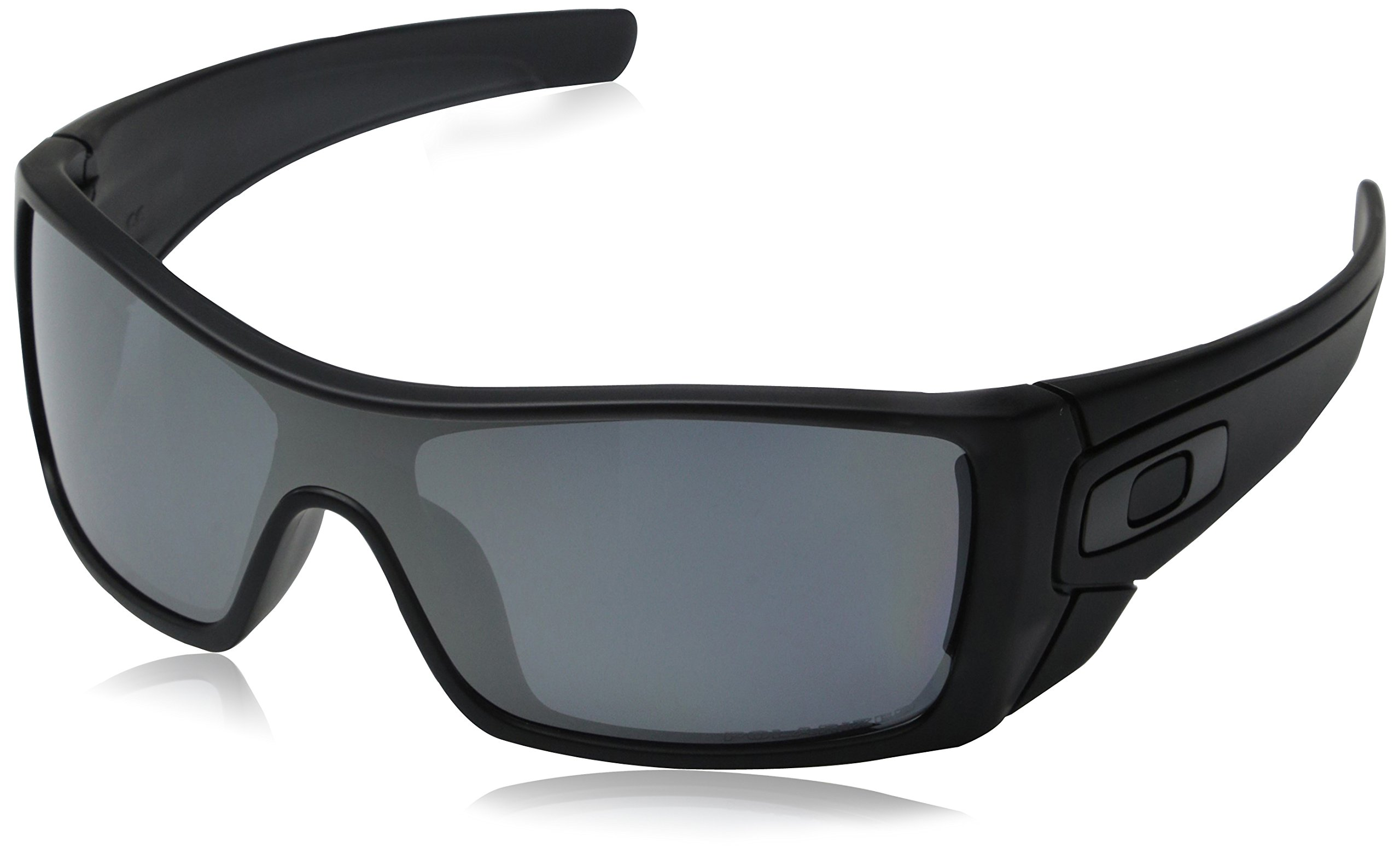 Oakley mens Batwolf OO9101-35 Iridium Polarized Sport Sunglasses,Matte Black Ink Frame/Black Iridium Lens,127 mm