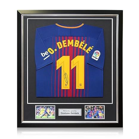 Exclusive Memorabilia Ousmane Dembele - Camiseta de fútbol firmada en Barcelona (Temporada 2017-18