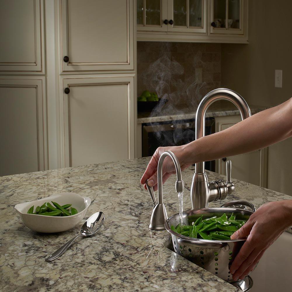 In-sink-erator níquel satinado dispensador de agua caliente H-VIEWSN-SS: Amazon.es: Bricolaje y herramientas