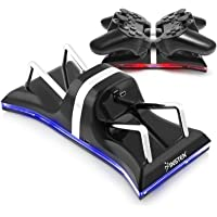 Insten Dual Charging Back Stand Docking Station with LED light Indicator Compatible with Sony PlayStation PS3 / PS 3 Slim Controller, Black