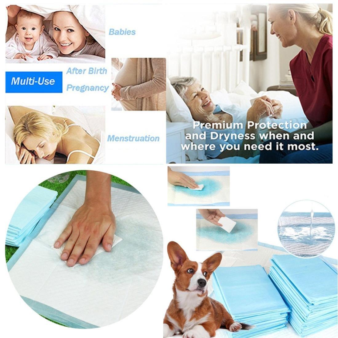 Artistic9 Super absorbant Tapis de chiot, épaississant Pets couches pour animal domestique en intérieur WC Coussinets, chiens et d'entrainement pour chiots, bleu, 35cm x 45cm Artistic9(TM)