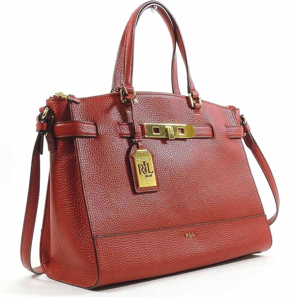 aa3029fe1aca Lauren By Ralph Lauren Women s Handbag Darwin Leather Satchel (Fall Red)   Amazon.ca  Clothing   Accessories