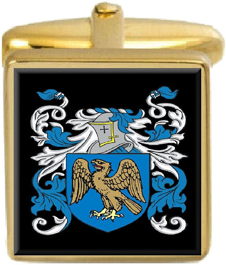 Select Gifts Lawless Ireland Family Crest Surname Coat Of Arms Gold Cufflinks Engraved Box