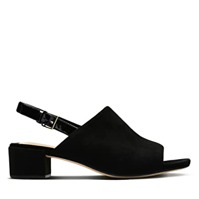 4565b9239e0 Clarks Orabella Ivy Suede Sandals in Black  Amazon.co.uk  Shoes   Bags