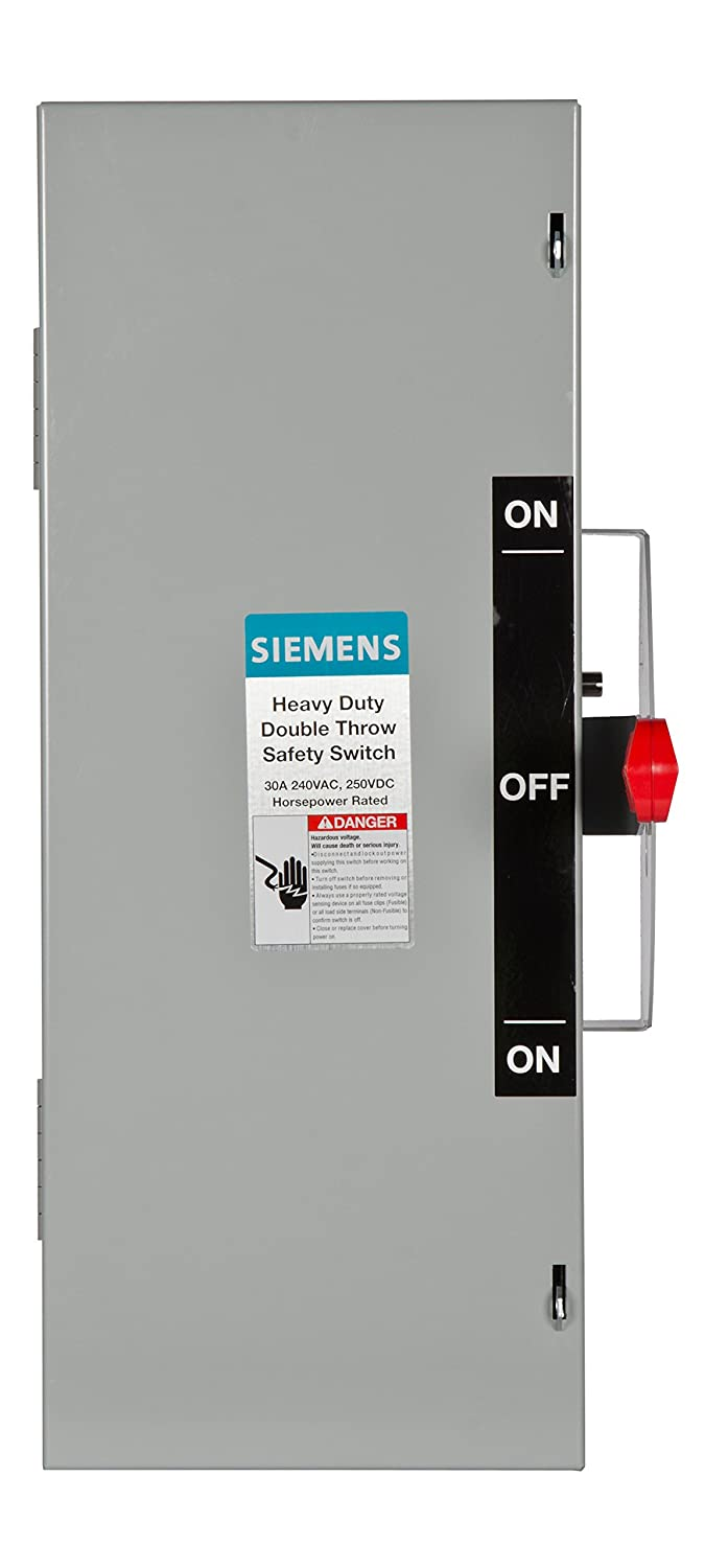 Siemens Dtnf221 30 Amp 2 Pole 240 Volt 2w Non Fused Double Throw Disconnect Wiring Diagram Printable Safety Switches