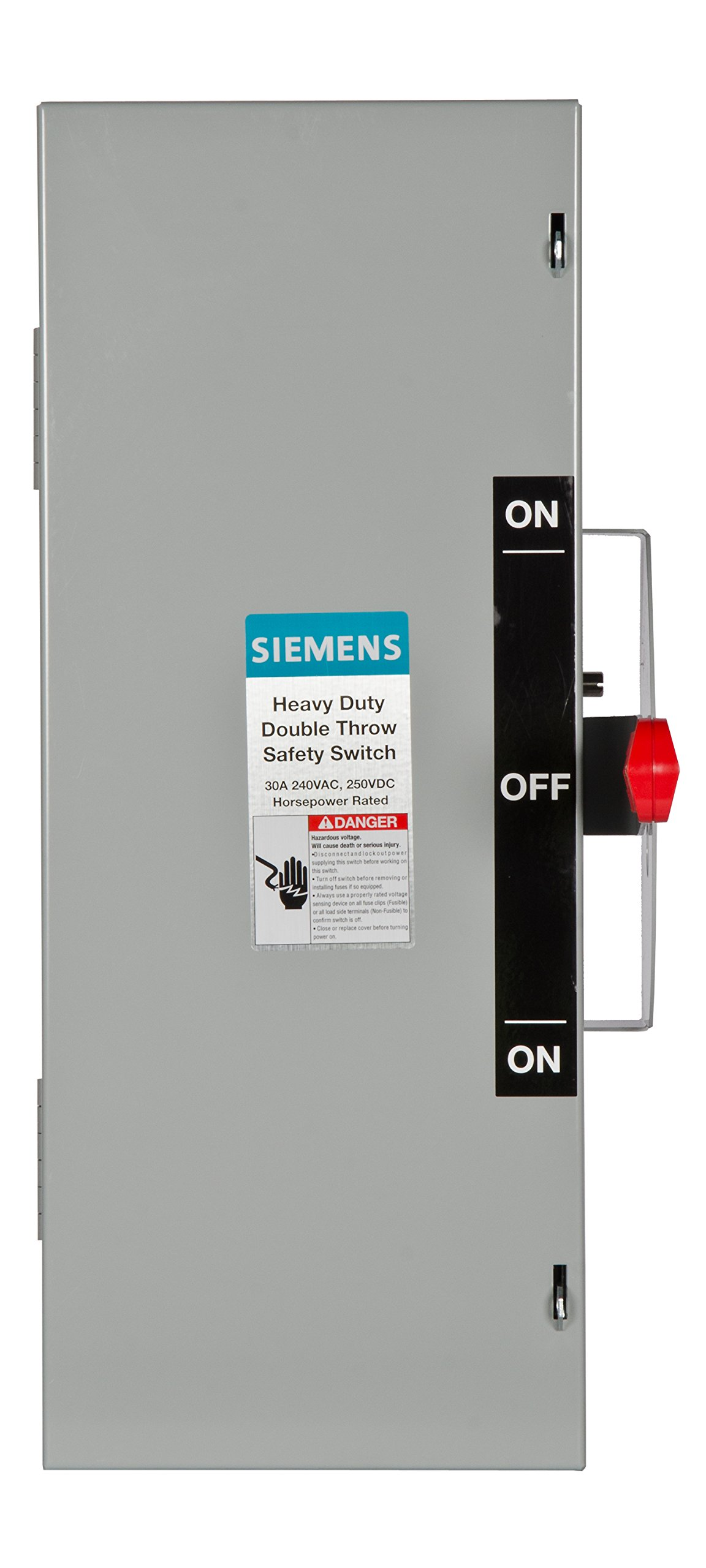 Siemens DTNF221 30-Amp 2 Pole 240-volt 2W Non-Fused Double Throw Safety Switches
