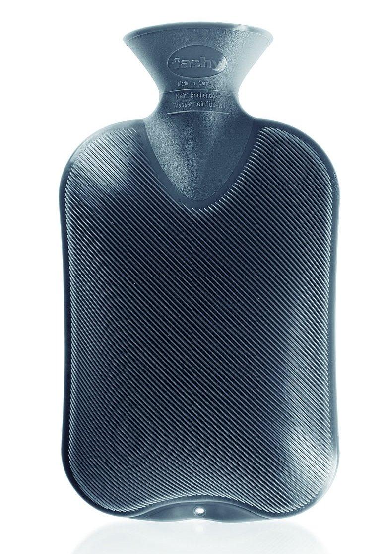 Fashy &apos Borsa dell' acqua calda plastica doppio di lamelle Grigio