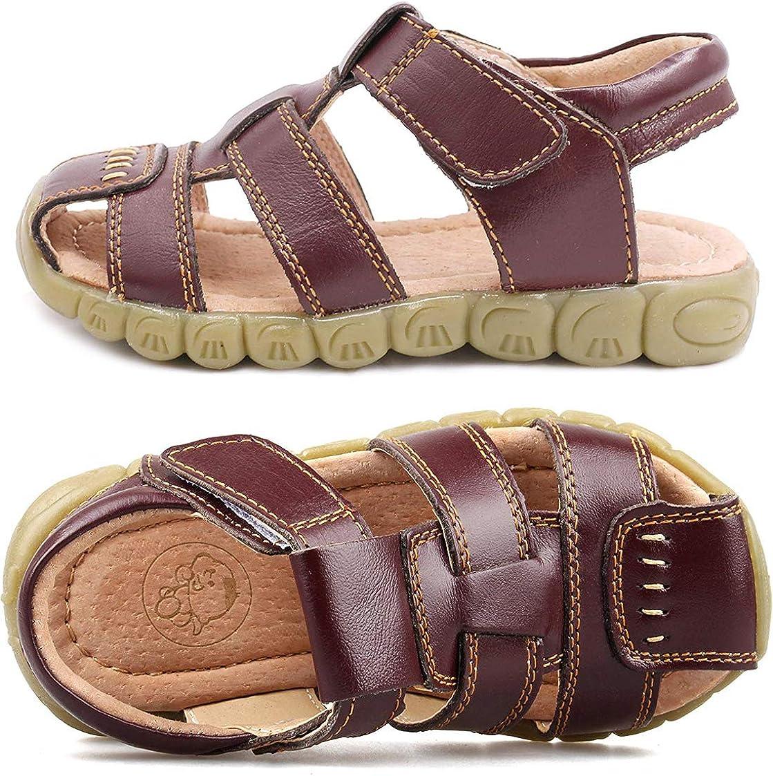 Gaatpot Enfant Sandales et Nu-Pieds en Cuir B/éb/é Chaussure Sandales Bout Ferm/é Chaussure d/ét/é pour Gar/çon Fille 22-34.5 21CN - 36CN