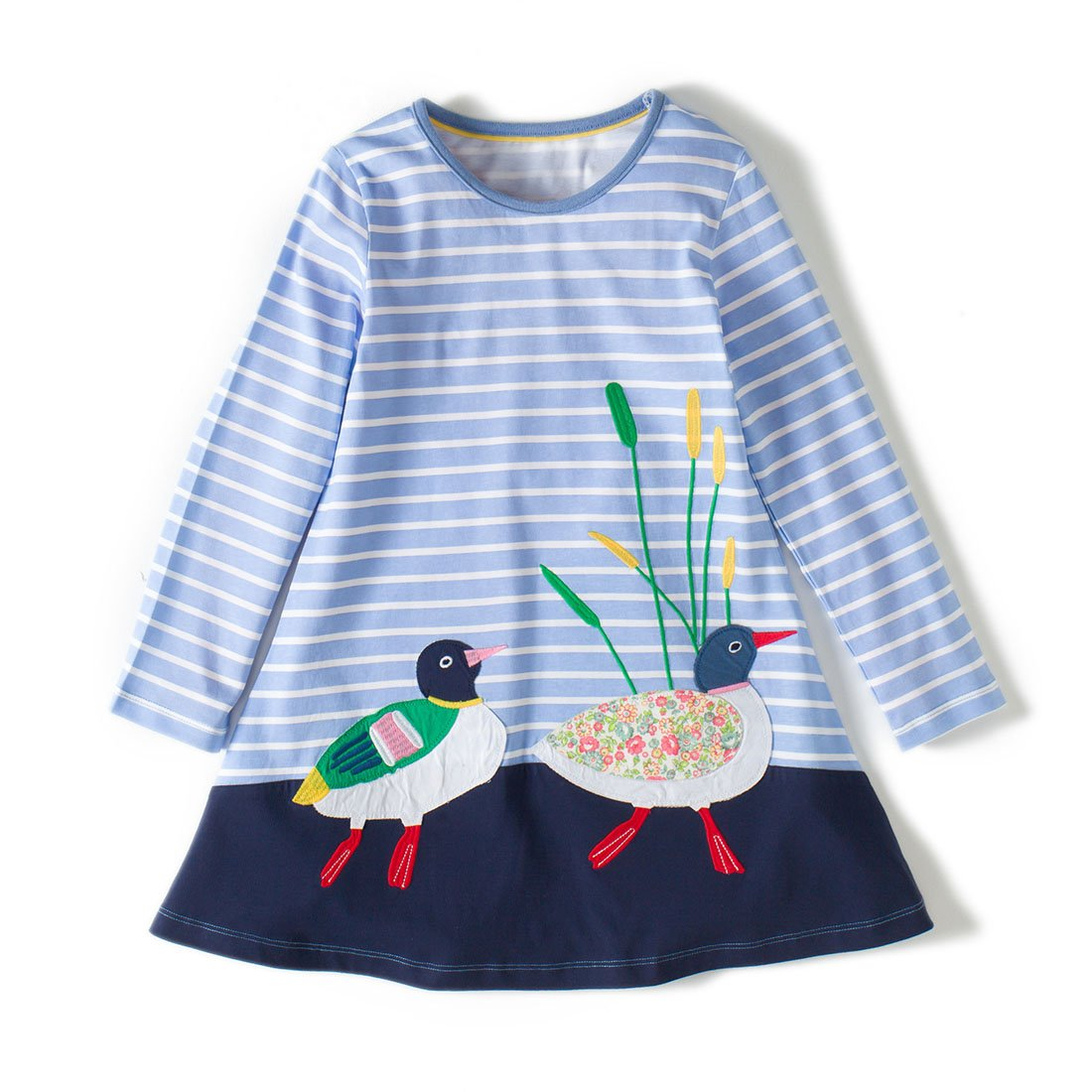 9ada0af45 Top2: Dan Ching Girls Cotton Long Sleeve Shirt Dress. Wholesale ...