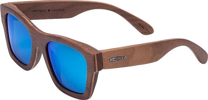 Wood Fellas Unisex Holz-Sonnenbrille Säbener walnut/grey One 3NLiOGLk8