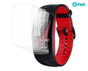 ARESH para Samsung Gear Fit 2 Pro protector de pantalla (paquete de 6), Samsung Gear Fit2 SM-R365 cobertura completa Crystal Clear Screen película ...