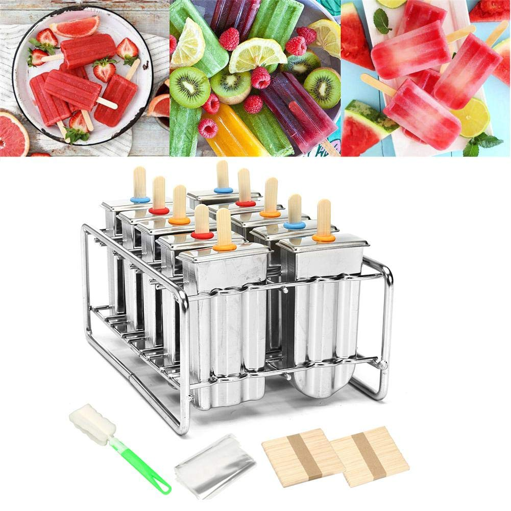 Amazon.com: DIY 10 PCS Stainless Steel Ice Popsicle Mold Ice ...