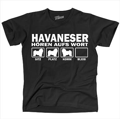 Siviwonder Unisex T-Shirt Havaneser Hunde Hören Aufs Wort Schwarz - Weiß S  Bis 4Xl: Amazon.de: Bekleidung