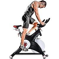 Sportstech Vélo de Biking Professionnel d'Appartement SX500 Vélo d'intérieur commandé par Application Smartphone, Poids d'inertie 25 Kg, Supports pour Bras, pédales avec Cales SPD