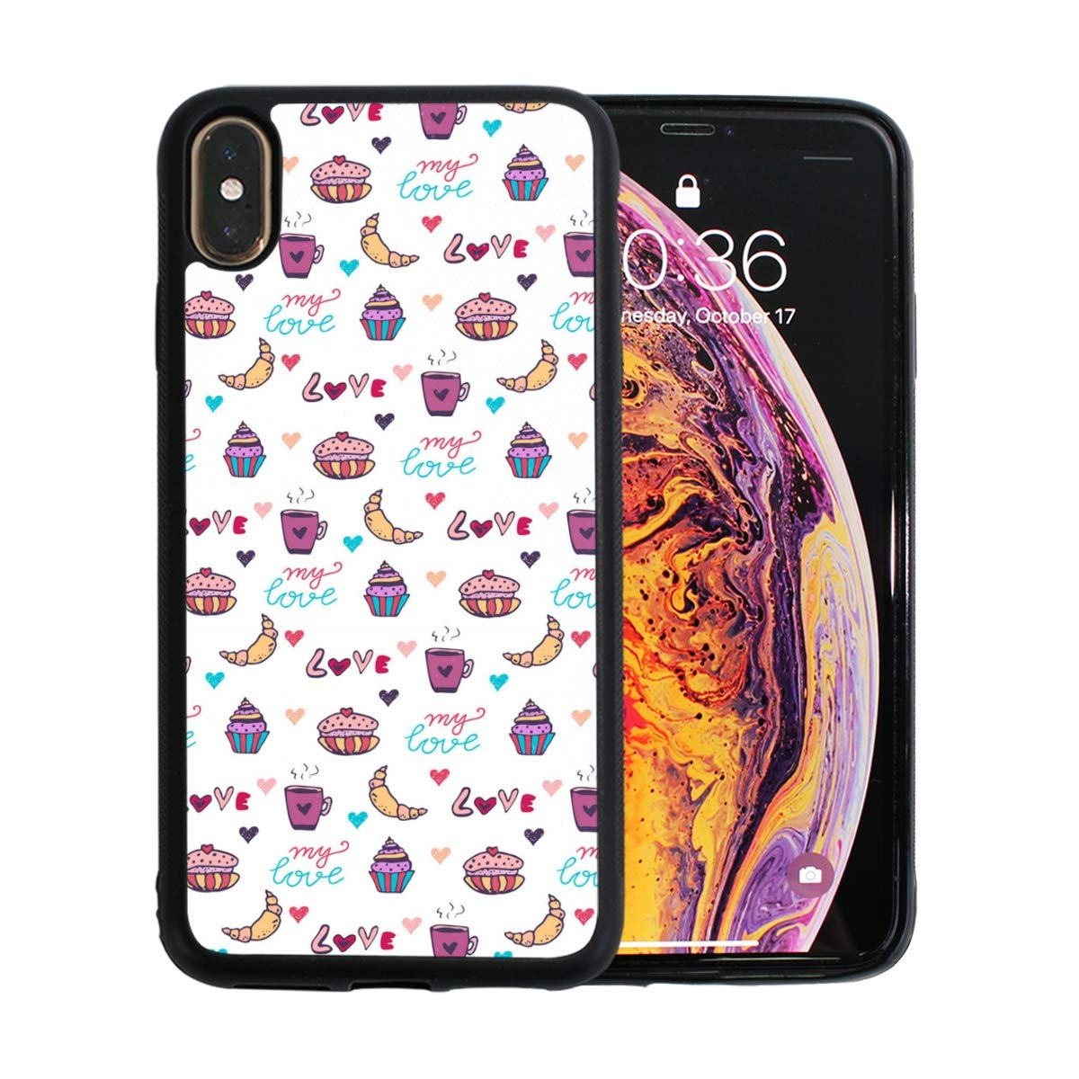 Cute Cartoon Croissant Cake Designed for Apple iPhone Xs MAX Case Scratch-Resistant Ultra-Thin Case