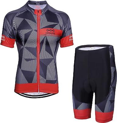 Men/'s 2020 New Cycling Jersey Bib Shorts Kits Breathable Riding Shirt Shorts Set
