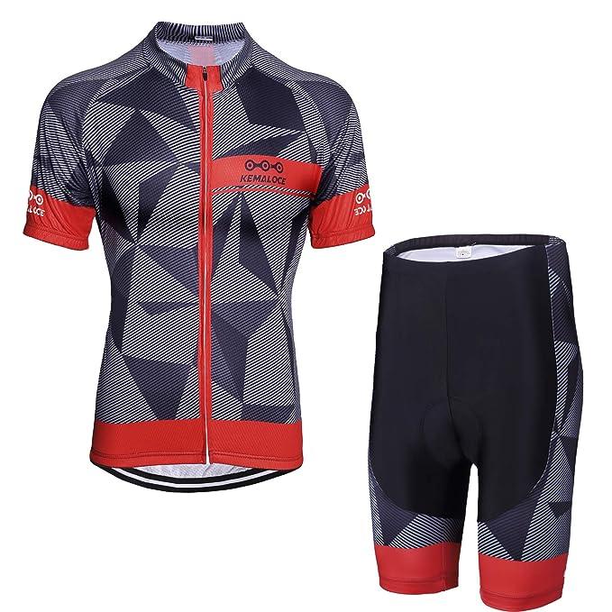 Amazon.com: KEMALOCE - Maillot de ciclismo para hombre ...