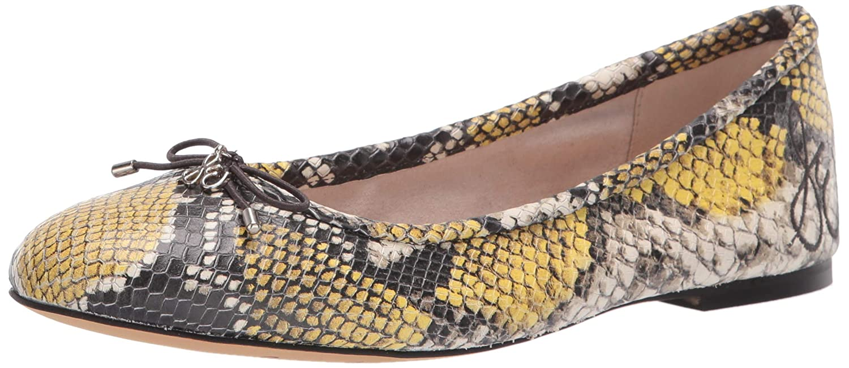 Tuscan jaune Multi Snake Print 38 EU Sam Edelhomme Felicia, Coupe fermées Femme