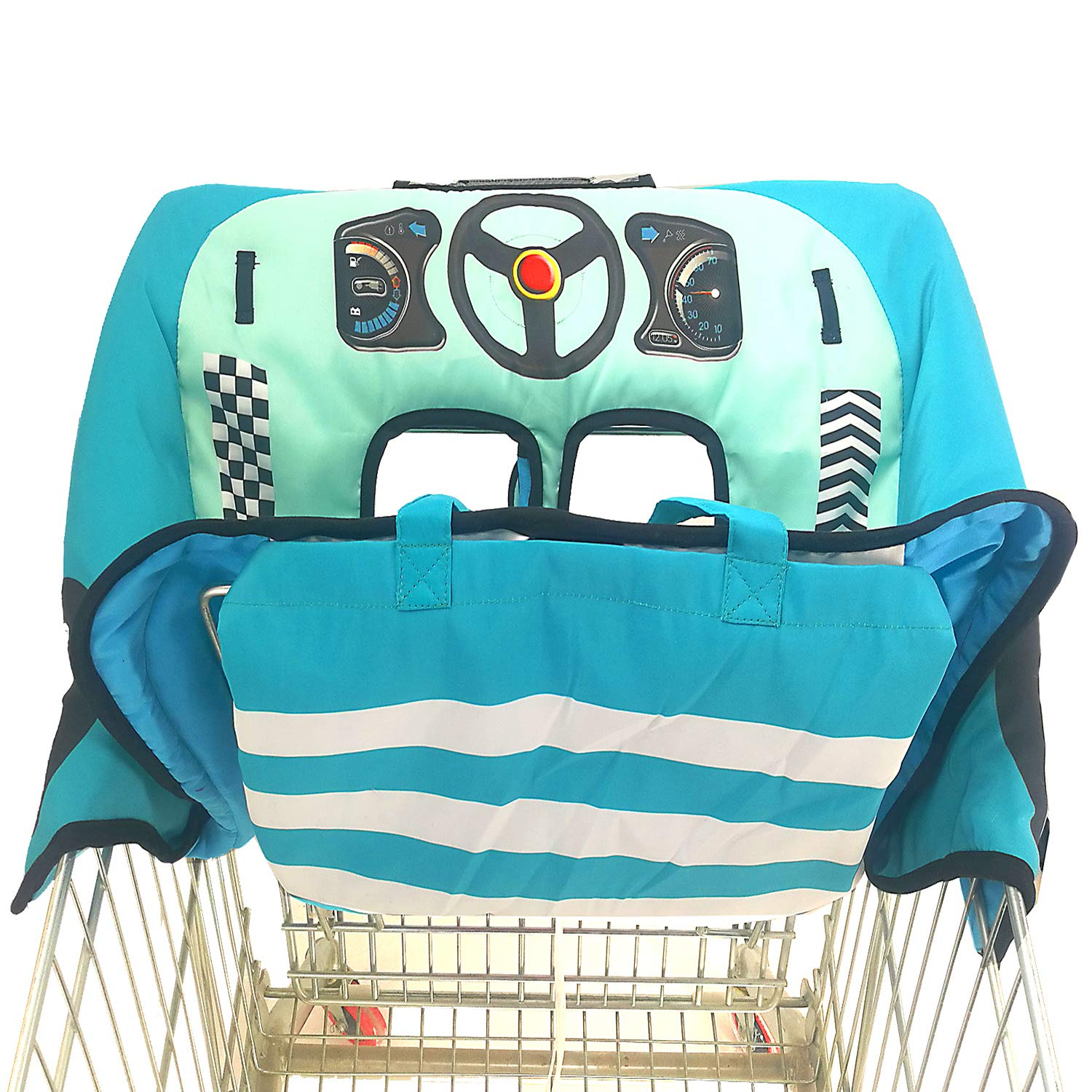 Extra Padded, Shopping Cart Cover and High Chair Cover for Baby,Provides Protection, Great Quality for Comfort by SLW (Blue)