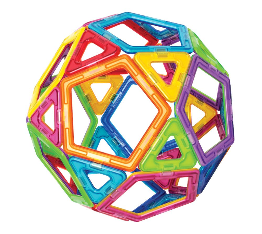 Magformers Basic Set (62-Pieces)  Magnetic Building Blocks, Educational Magnetic Tiles, Magnetic Building STEM Toy by Magformers (Image #2)