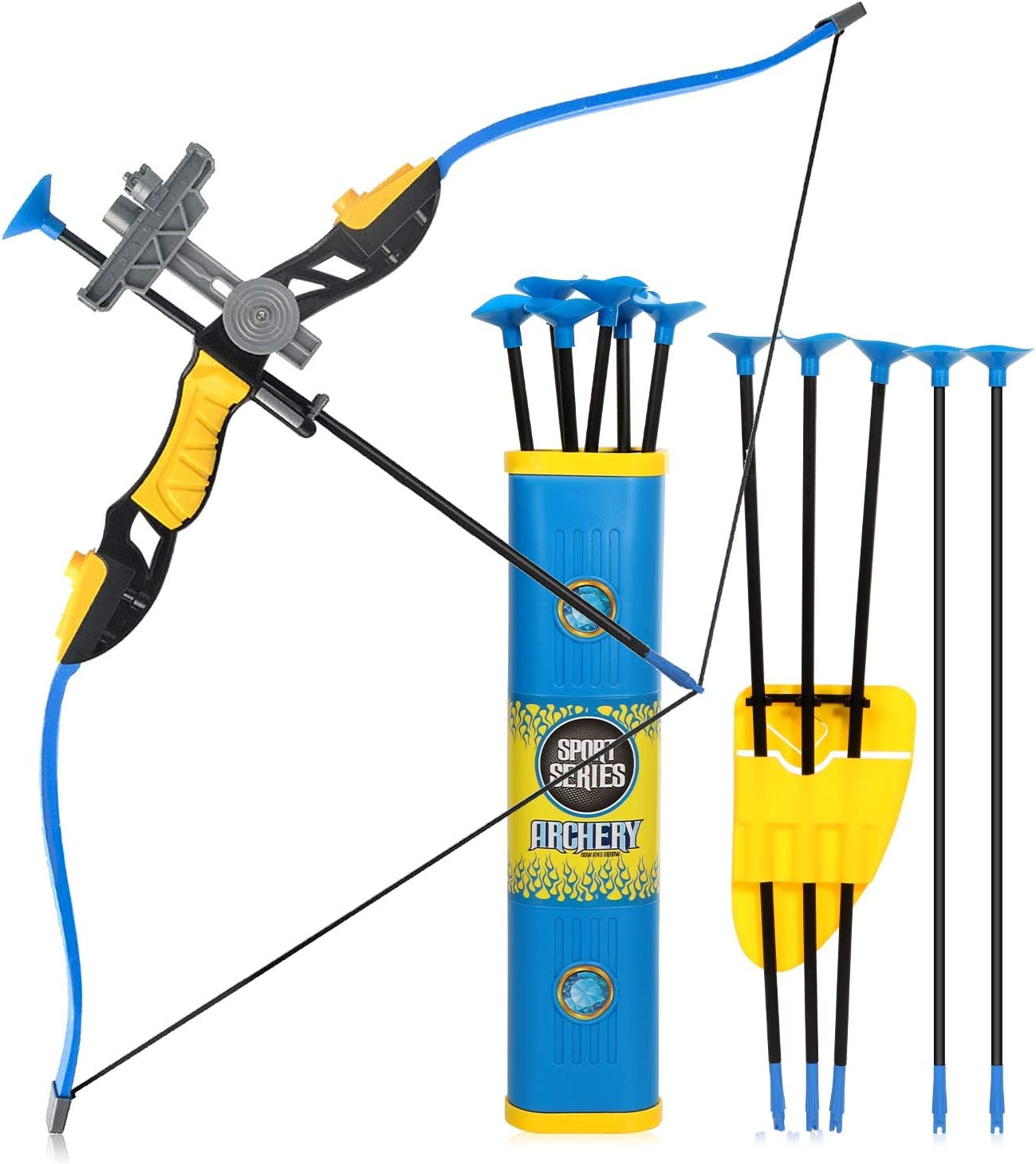 2 Set Archery Bow and Arrow Toys Funny Archery Game for Outdoor Kids