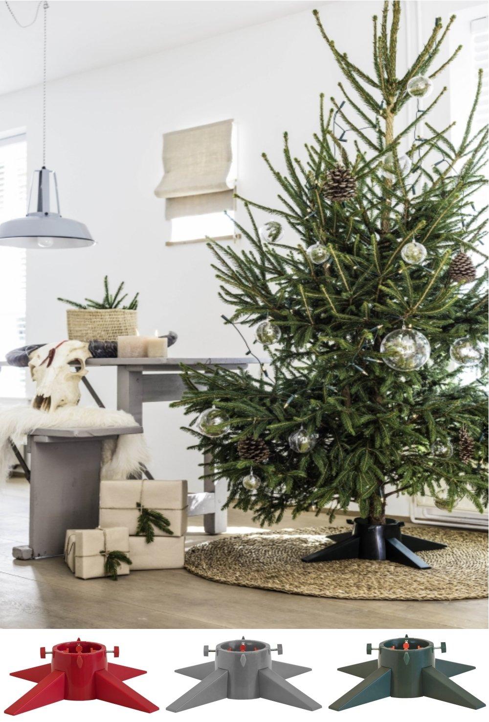 560mm plastica Base di supporto per albero di Natale con serbatoio per acqua montabile in pochi minuti Green molto robusta