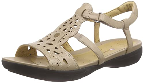 b2265365d7a Clarks Women s Un Valencia Sand Brown Leather Fashion Sandals - 9 UK India  (43