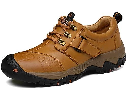 GNEDIAE Zapatillas de Camping y Acampada para Hombres Zapatos de Senderismo Montaña Calzado de Trekking Impermeable y Ligero Transpirables y Antideslizante: ...