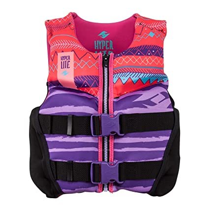 Hyperlite 2019 Girls Youth Indy Neo Vest for Wakeboard Wakesurf Ski Pink  Size Small bf0447da573d