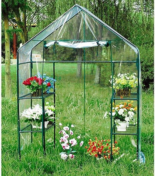 TWS Invernadero PVC Jardín,Invernadero Caseta Jardin Terraza Cultivo De Plantas Semilla,Invernadero De Jardín Y Terraza para: Amazon.es: Hogar