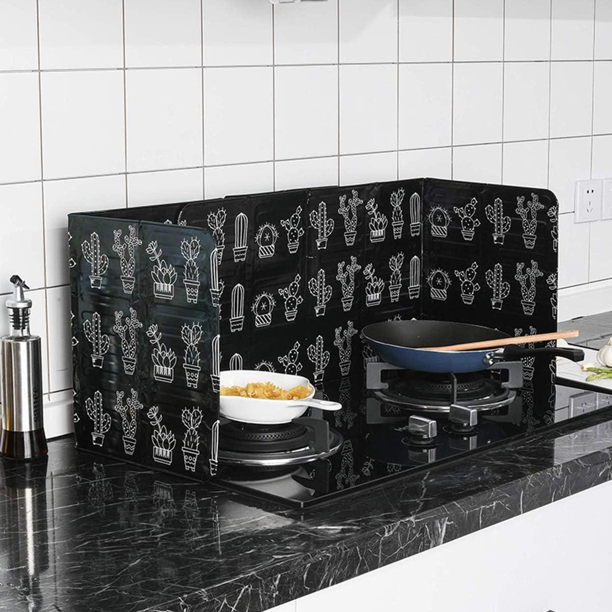 iFCOW Placa de Deflector de Aceite de Cocina de 3 Lados de cocción aislada a Prueba de Salpicaduras de Aceite de eliminación de la Placa de Deflector ...