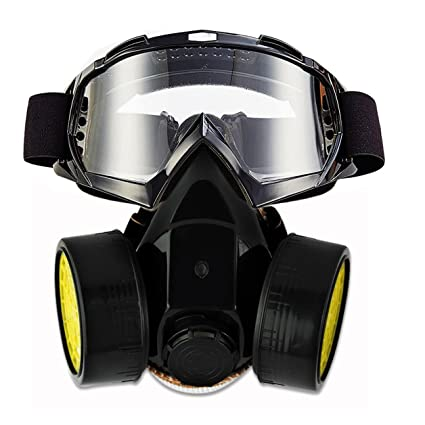 Spray Paint Mask >> Jolin Dual Anti Dust Spray Paint Industrial Chemical Gas Respirator Mask Glasses Set