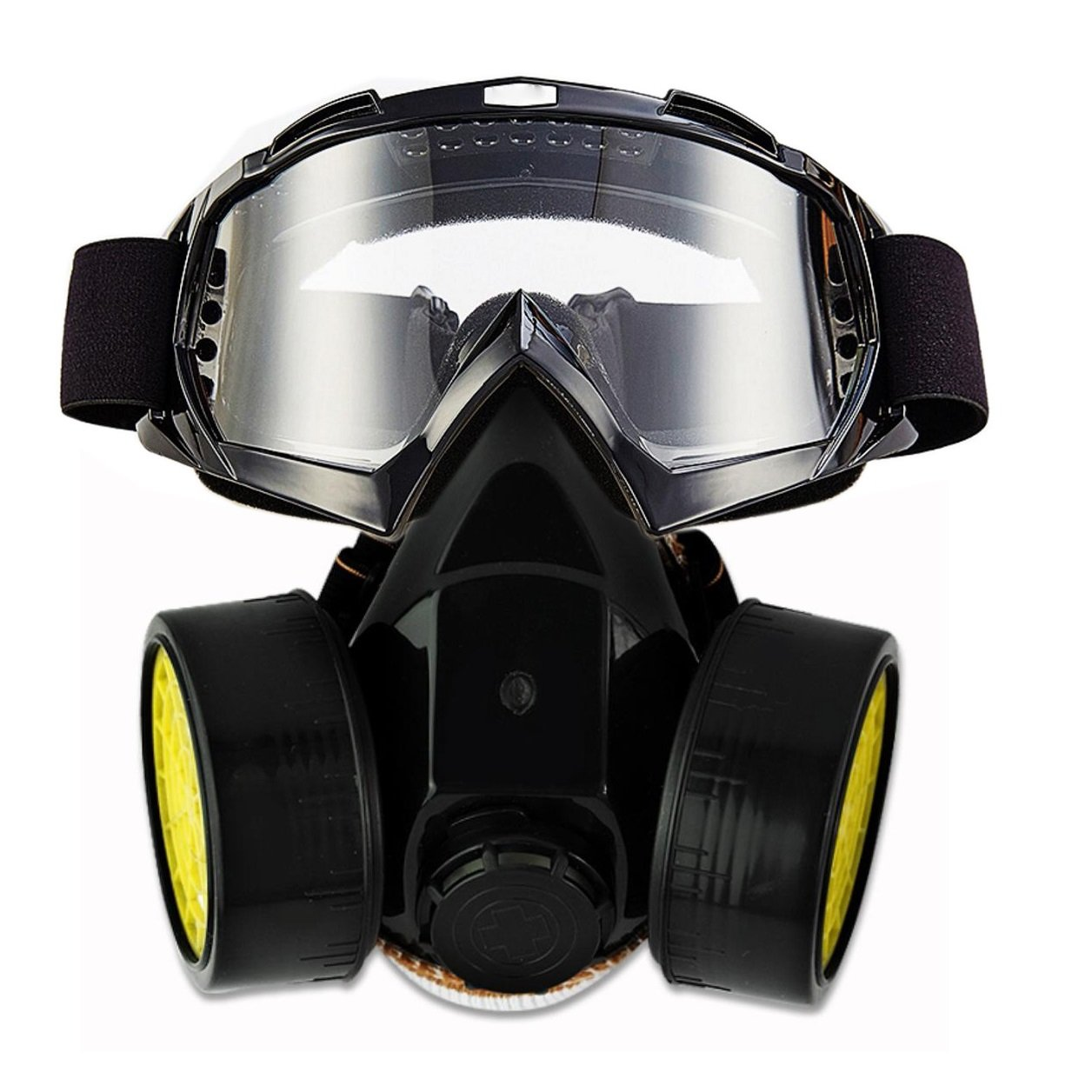 JOLIN Dual Anti-Dust Spray Paint Industrial Chemical Gas Respirator Mask & Glasses Set