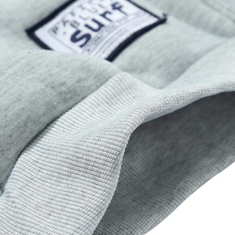 ZAFUL Solid Color Pouch Pocket Fleece Hoodie Casual Unisex Hoodie Long Sleeve Pullover Sweatshirt