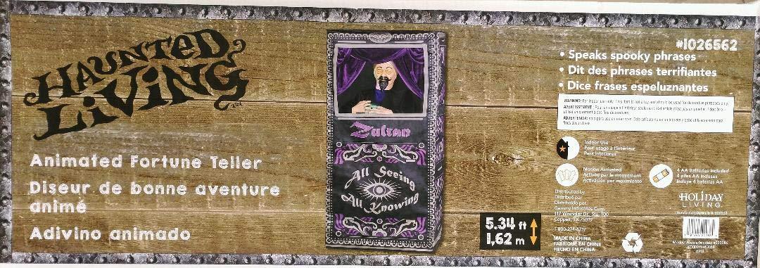 Halloween Fortune Teller Animatronic.Holiday Living Gemmy Led Animated Halloween Fortune Teller 5 3 Feet Tall