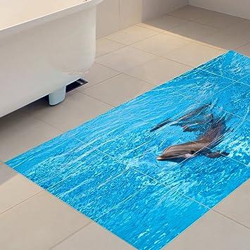 Yyh Schöner Delphin 3d Aufkleber Die Bodenfliese Individualität