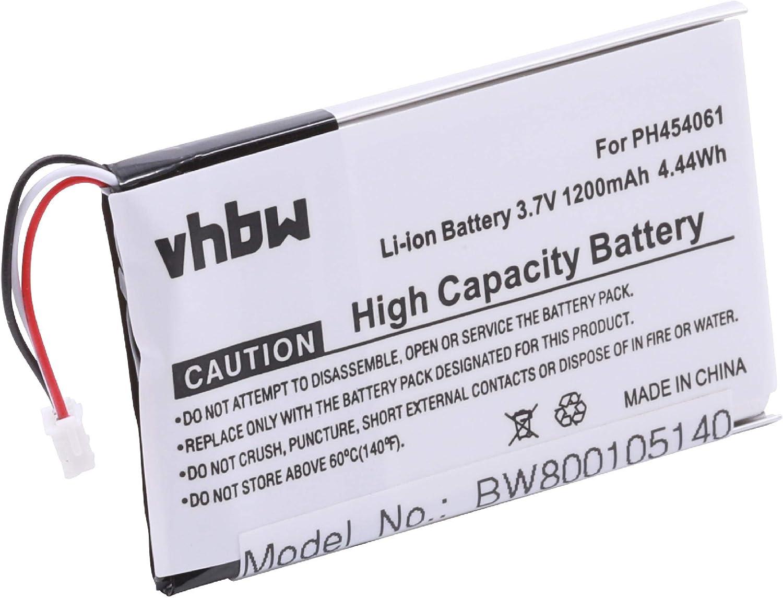 vhbw batería 1200mAh (3.7V) para teléfono Fijo inalámbrico Philips S10A, S10A/38, S10H por PH454061.: Amazon.es: Electrónica
