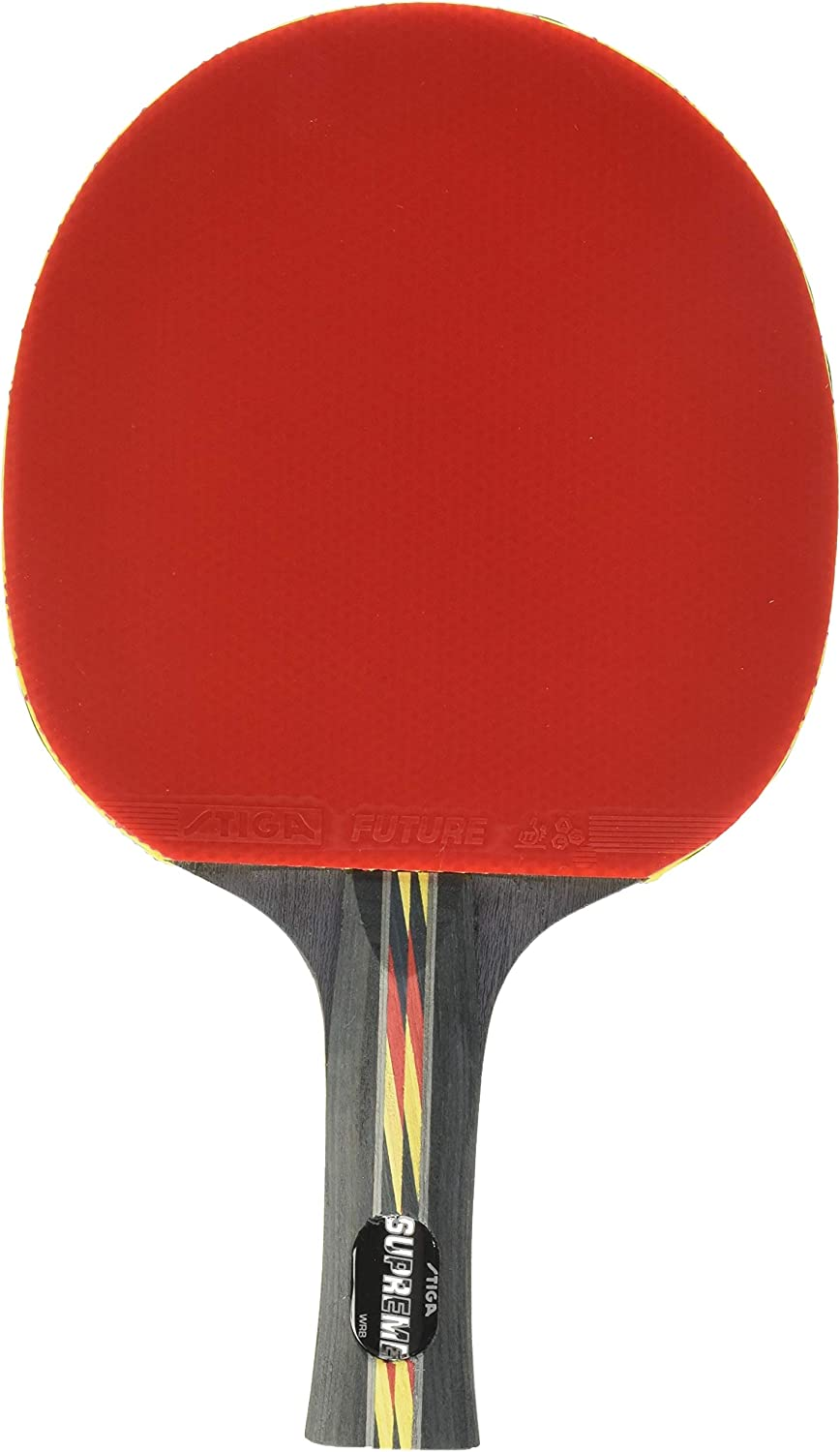 STIGA Supreme Performance-Level Table Tennis Racket made with ITTF Approved Rubber for Tournament Play - Features STIGA ACS for Control and Speed : Top Ping Pong Paddle : Sports & Outdoors