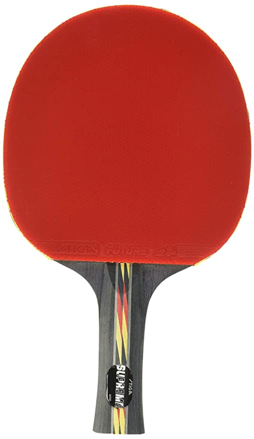Com Stiga Supreme Performance Level Table Tennis Racket Made With Ittf Approved Rubber For Tournament Play Features Acs Control And
