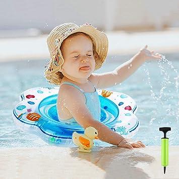 IKOOMEE Flotador para bebés con Asiento, Anillo de natación ...